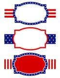 rabatowy ramowy patriotyczny Fotografia Stock