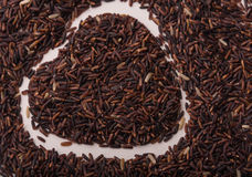 Rabatowy ramowy serce ryżowa jagoda Fotografia Royalty Free