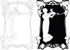 rabatowy sztuki nouveau ilustracja wektor