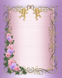 rabatowy zaproszenia bluszcza orchidei target97_1_ Obrazy Stock
