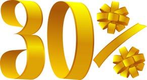 Rabatt - 30 Prozent Lizenzfreies Stockfoto