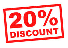 20% Rabatt Lizenzfreies Stockfoto