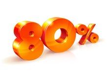 Rabatt achtzig Prozent Isometrische Art Stockbild