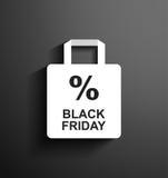 Rabatt Black Friday stock illustrationer
