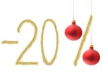 Rabatt des Winters 20% Stockbilder