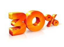 Rabatt dreißig Prozent Isometrische Art Lizenzfreie Stockfotografie