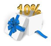 rabatt för 10 begrepp Arkivbilder