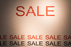 Rabatt för befordran för detaljhandel för erbjudande för SALE ordaffisch Royaltyfri Fotografi