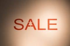 Rabatt för befordran för detaljhandel för erbjudande för SALE ordaffisch Royaltyfria Bilder