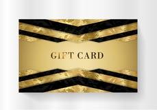 Rabatt för kort för gåva för gåvakort, lyxigt belöningkort, gåvakupong med den svarta modellen stock illustrationer