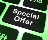 Rabatt för Shows för specialerbjudandedatortangent Arkivbilder