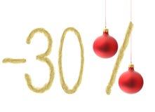 Rabatt för vinter 30% Arkivfoto