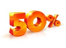 Rabatt fünfzig Prozent Isometrische Art Lizenzfreie Stockfotografie