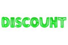 Rabatt grön färg Fotografering för Bildbyråer