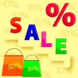Rabatt im Verkauf Stockbild