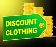 Rabatt-Kleidungs-Vertretung kleidet Illustration billig 3d vektor abbildung