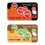 Rabatt-Kreditkarten Stockfoto
