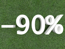 Rabatt neunzig Prozent Lizenzfreies Stockfoto