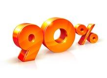 Rabatt neunzig Prozent Isometrische Art Stockfoto