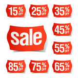Rabatt-Preise Stockfoto