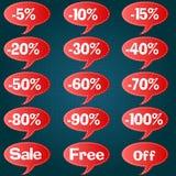 Rabatt-Preissatz Stockfoto