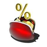 Rabatt procent, räntesats Fotografering för Bildbyråer