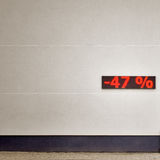 Rabatt 47 Prozent heruntergesetzt Lizenzfreies Stockbild