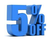Rabatt 5 Prozent heruntergesetzt Stockbilder