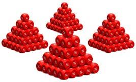 Rabatt pyramids1 vektor illustrationer
