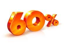 Rabatt sechzig Prozent Isometrische Art Lizenzfreie Stockfotos