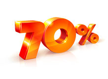 Rabatt siebzig Prozent Isometrische Art Stockfotos