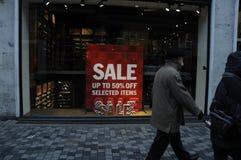 50% RABATT-VERKAUF AN IRGENDEINEM SHOP Lizenzfreies Stockfoto