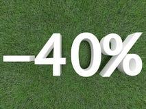 Rabatt vierzig Prozent Stockbilder
