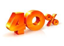 Rabatt vierzig Prozent Isometrische Art Lizenzfreie Stockfotos