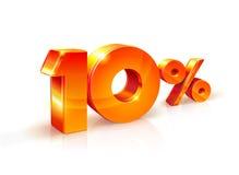 Rabatt zehn Prozent Isometrische Art Lizenzfreie Stockfotos