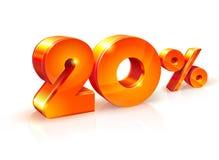 Rabatt zwanzig Prozent Isometrische Art Lizenzfreie Stockbilder