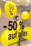 Rabatte als Prozentsatz Stockfoto
