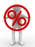 Rabatte. Prozente auf der Person Stockfotografie