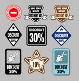 Rabattetiketter Fotografering för Bildbyråer