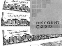 Rabattkarte und -geld Lizenzfreie Stockbilder