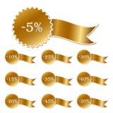Rabattkennsätze Lizenzfreie Stockbilder