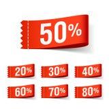 Rabattkennsätze Lizenzfreies Stockfoto
