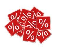Rabattkennsatz Stockbilder
