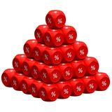 Rabattpyramide Stockbilder