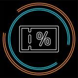 Rabattverkaufs-Prozentzeichenikone, für Verkaufszeichen, Kupon lizenzfreie abbildung