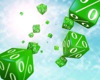 Rabattwürfel Lizenzfreies Stockfoto