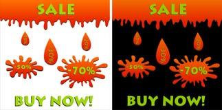 Rabaty i sprzedaże, zakup teraz Fotografia Stock