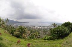 Rabaul Caldere y volcán Tavurur Imagenes de archivo