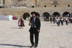 Rabbi. A rabbi close to the Waling Wall, Jerusalem, Israel Stock Photos