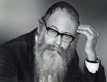 Free Rabbi Adin Steinsaltz In Jerusalem In 1988 Stock Images - 192975794